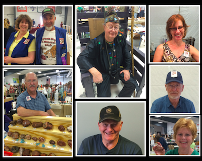 Photo collage of the friendly faces of the Cuyuna rock club.